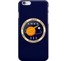 Ares 3 mission to Mars - The Martian (Badge) iPhone Case/Skin