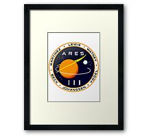 Ares 3 mission to Mars - The Martian (Badge) Framed Print