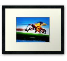 Speed Scribble Framed Print