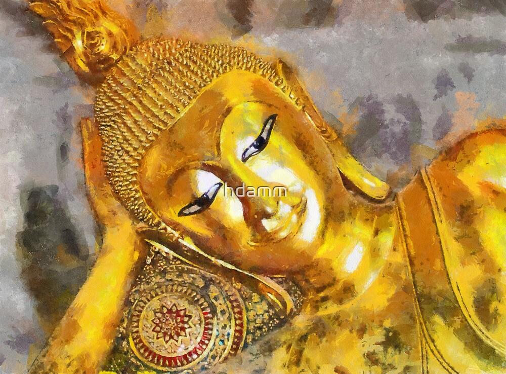 Reclining Buddha by hdamm