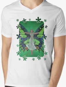 Flutterby Fairy Mens V-Neck T-Shirt