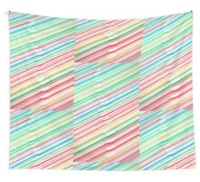Artistic Angular Lines Vintage Striped Cocktail Bar Straws Wall Tapestry