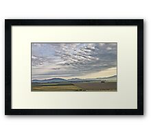 Skagit valley farmlands Framed Print