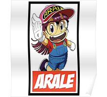 Arale Obey Style - Dr Slump Poster