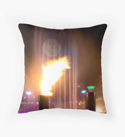 Fire and Water Throw Pillow
