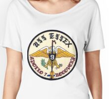 USS Essex CV-9: Apollo 7 Recovery Patch Women's Relaxed Fit T-Shirt