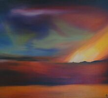 Volcanic Northern Lights by artbyjude