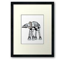 Shakespearean Star Wars: AT-AT Framed Print
