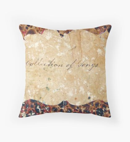 a collection of songs Throw Pillow