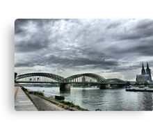 The Hohenzollen Bridge  Canvas Print