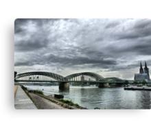 The Hohenzollen Bridge  Canvas Print