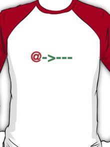 SMS / ASCII Rose T-Shirt