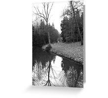 Winter Lake Greeting Card