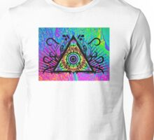 Psychedelic Skull Triangle Unisex T-Shirt