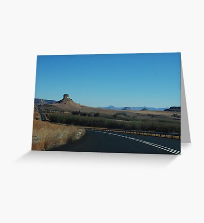 the black ribbon.  free state, south africa Greeting Card