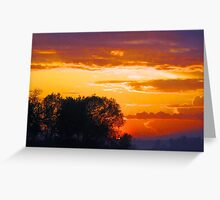 Sunset at Calumet Island Greeting Card