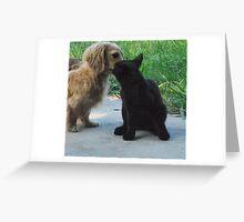 kissing cousins Greeting Card