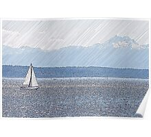 A nice day for a Sail Poster