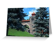 Clock Tower at Singer Castle Greeting Card