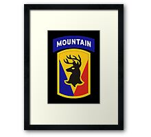 86th Infantry Brigade Combat Team 'The Vermont Brigade' (Mountain) US Army Framed Print