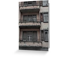 gloomy facade Greeting Card