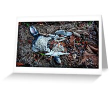 dead rabbit by her grave Greeting Card