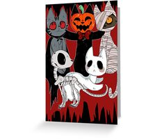 Spooky Cats Greeting Card