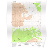 USGS Topo Map Oregon Jacks Place 280315 1982 24000 Poster