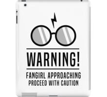 Warning Fangirl Approaching Harry Potter Glasses Geeky Design iPad Case/Skin