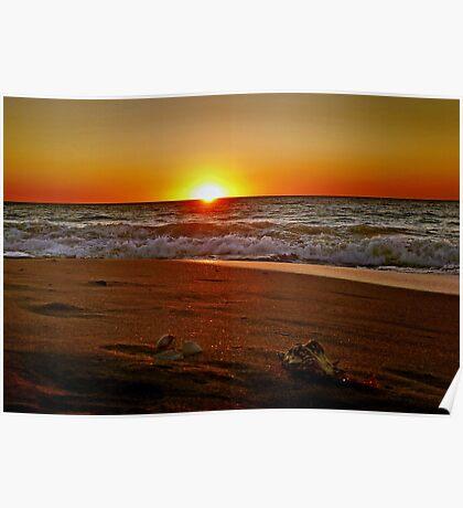 Beach Sunset, Mandurah...Western Australia Poster