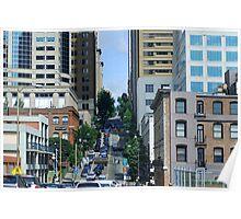 Steep Seattle Street Poster