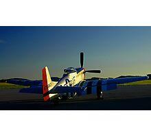 Sunset Mustang Photographic Print