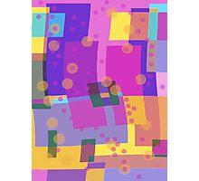 Blocks and Dots Photographic Print
