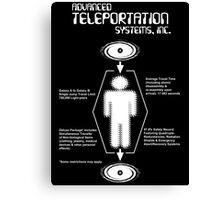 Teleportation Canvas Print