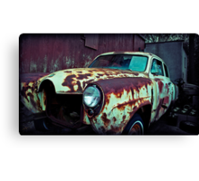 As I drove away slowly, feeling so holy, God knows, I was feeling alive. Canvas Print