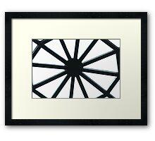 Wheel Of Lines Framed Print