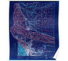 USGS Topo Map Oregon Portland 282796 1905 62500 Inverted Poster