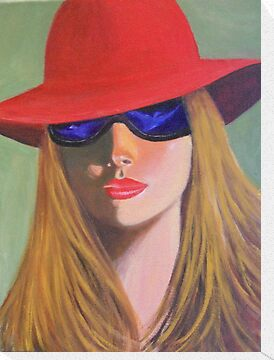 LADY IN A RED HAT by Dian Bernardo