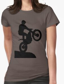 Trials Rider Black Womens Fitted T-Shirt