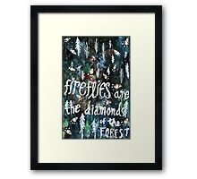 Firefly Diamonds Framed Print