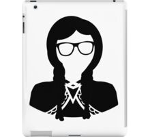 Geeky Hipster Princess Nerdy Glasses Vector Black White Design iPad Case/Skin