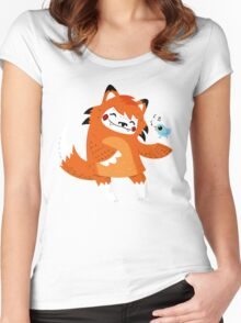 the fox and the bird Women's Fitted Scoop T-Shirt