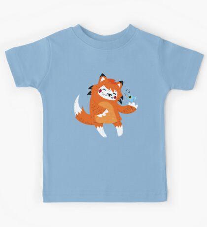 the fox and the bird Kids Tee