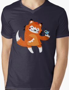 the fox and the bird Mens V-Neck T-Shirt