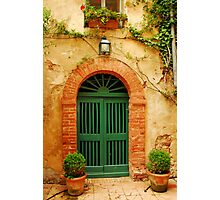 An old door in Tuscany Photographic Print