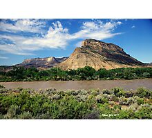 Lenticular clouds over mesa Photographic Print