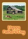 Fathers Day Card Mail Pouch Tobacco Advertising on Barn by MotherNature