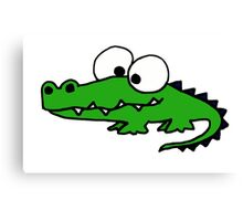 Funky Goofy Alligator Cartoon Canvas Print