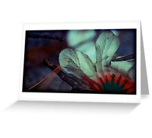 in the dusk they blossomed Greeting Card
