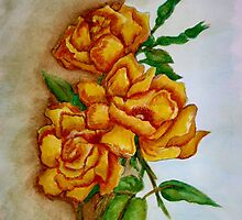 Watercolor Roses by plunder
